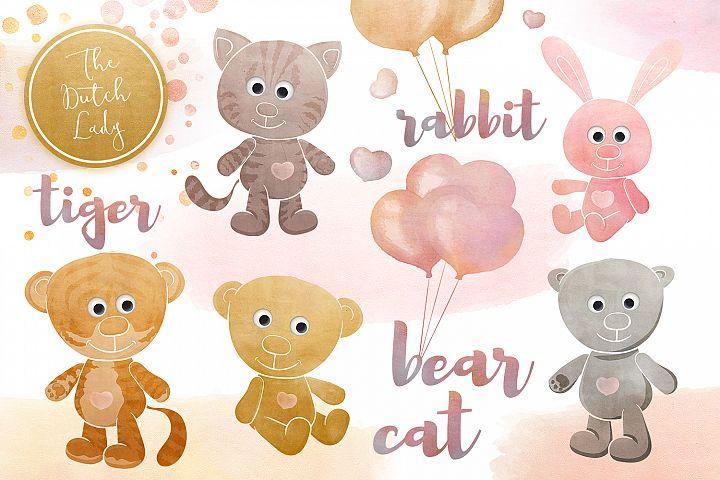 Cuddly Toy Animals Clipart Set