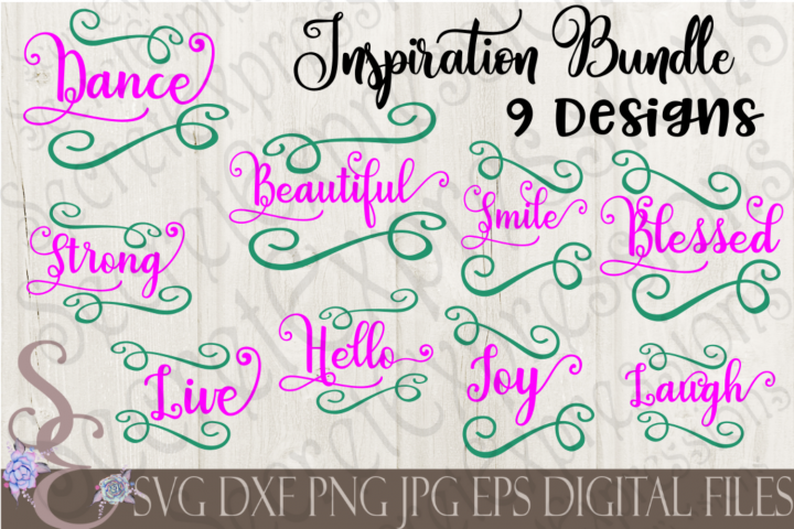 Inspirational Bundle 9 Designs