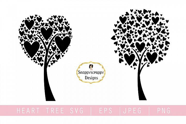 Tree Hearts SVG