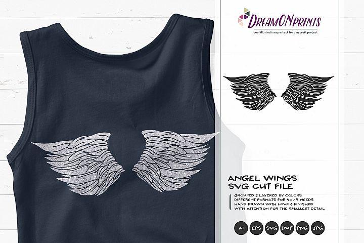Angel Wings SVG Cut Fangile