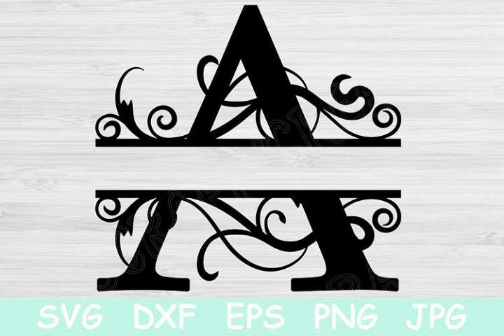 Split Letter Monogram Svg, Alphabet Svg Cut Files for Cricut