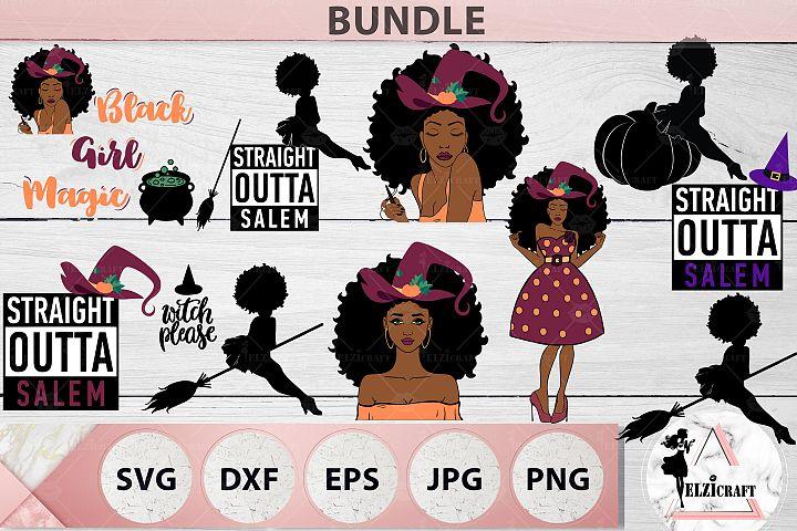 BUNDLE Halloween Afro Women SVG Cut Files