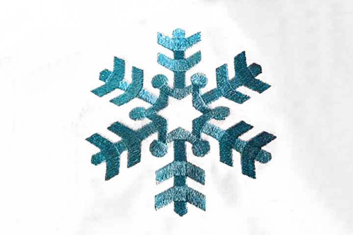 Single Simple Snowflake Embroidery Design