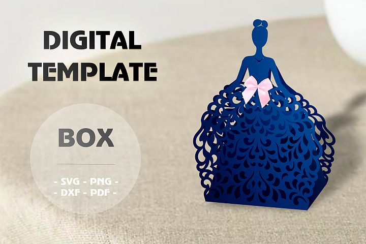 Wedding favor boxes, Gift box template