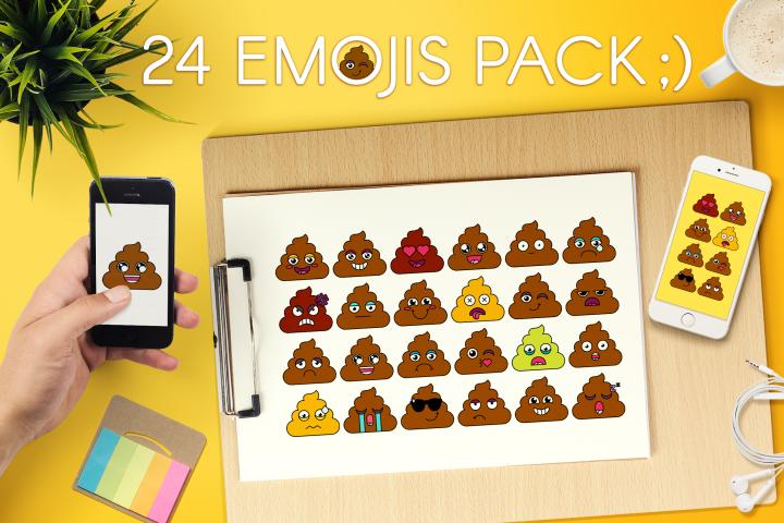 Poop Emoji Set