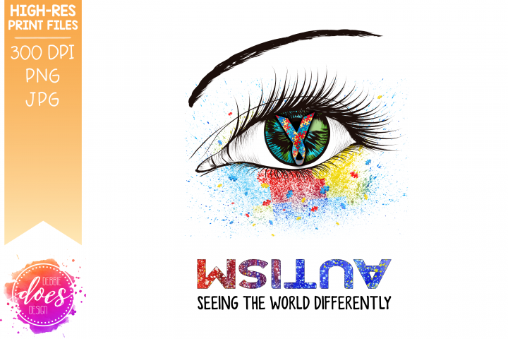 Autism Eye - Seeing the World Differently - Printable Design