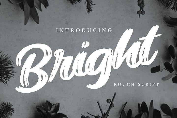 Bright | Modern Rough Script Font