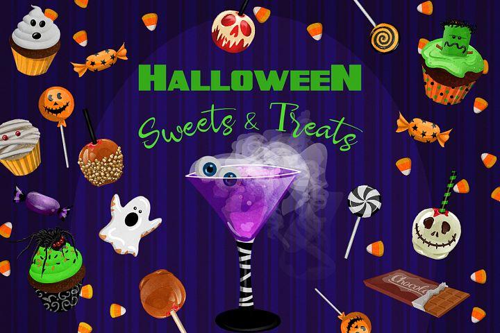 Halloween Sweets & Treats Clipart
