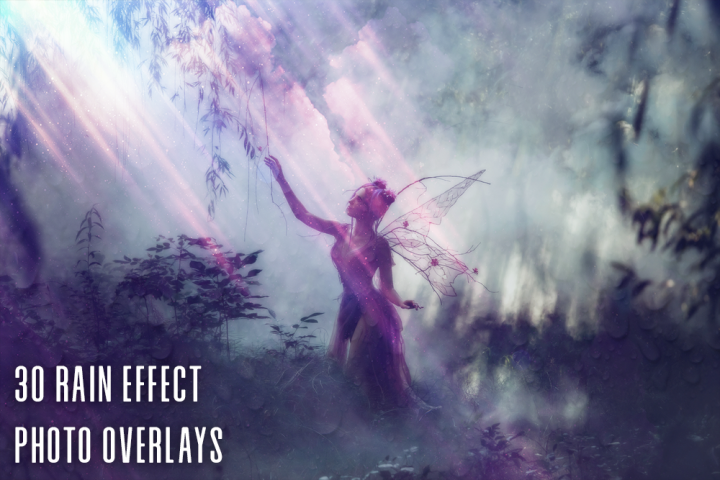 30 Rain Effect Photo Overlays