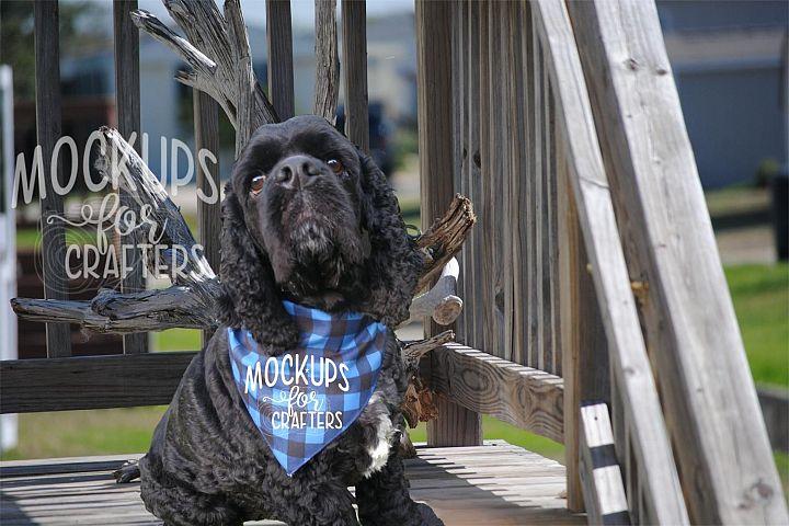 MOCK-UP - Pet Bandana, Dog Bandana, Buffalo Plaid