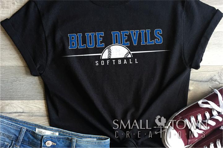 Blue Devil, Softball Team, Logo, Sport, PRINT, CUT & DESIGN