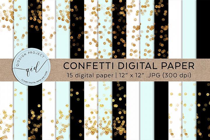 Gold Confetti Digital Pattern Paper JPG