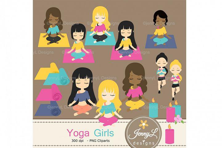 Yoga Girls Clipart SET