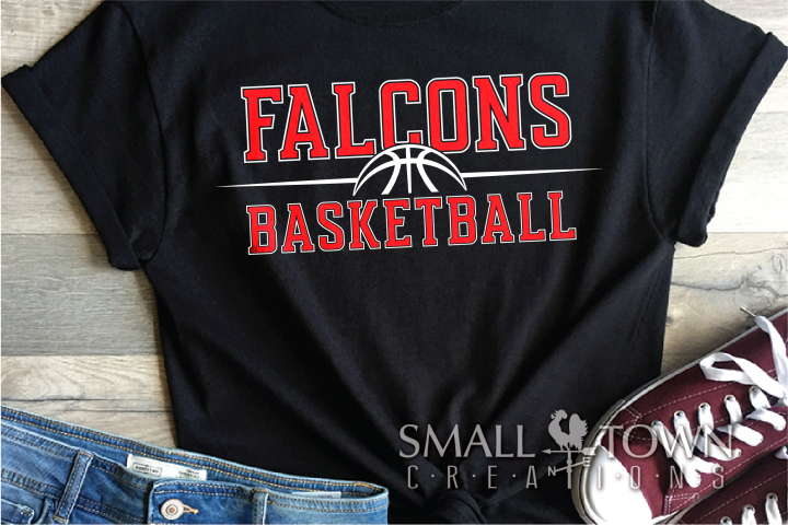 Falcon, Basketball, Sports, Design, PRINT, CUT, DESIGN