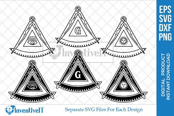 Masonic Past Master | Compass | Freemason | Symbol | SVG |