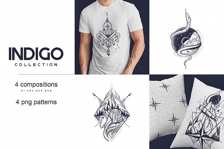 Indigo Collection - Ai, EPS, PSD