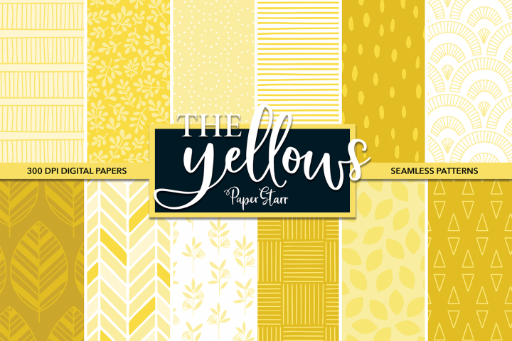 Yellow Pattern Digital Paper