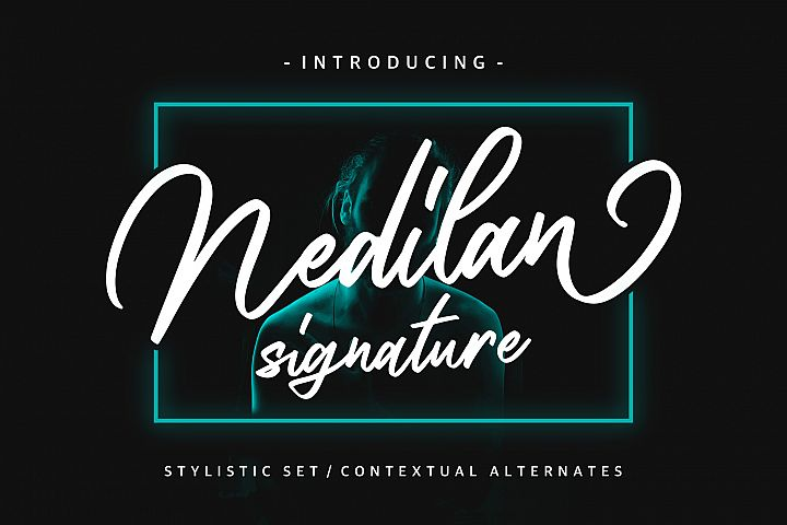 Nedilan - Signature Nedilan - Signature by BRTL in Fonts De