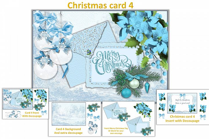 Christmas Card Making Kit with free clipart example 4