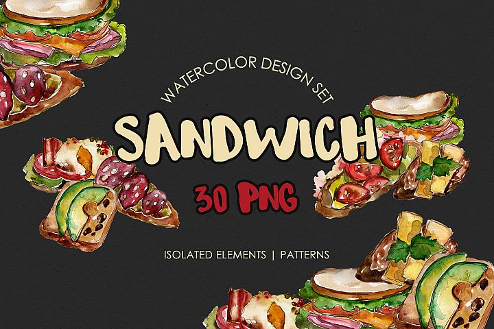 Sandwich Croc-Monsieur Watercolor png