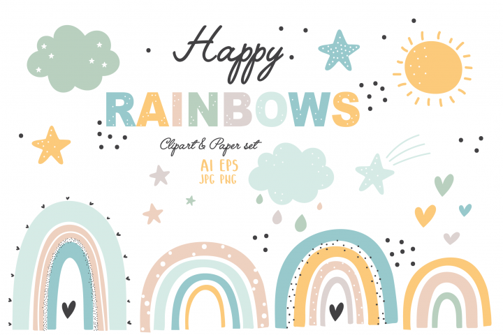 Happy Rainbows set