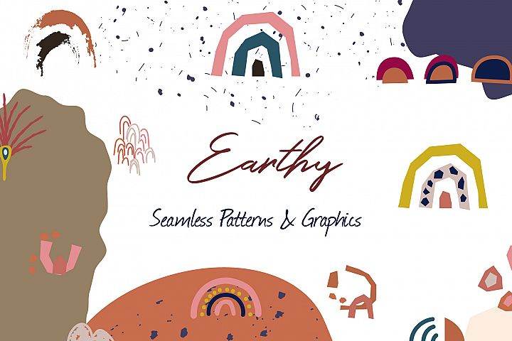 Earthy - Seamless Patterns & Graphics