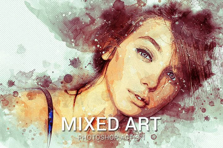Mixed Art Photoshop Action