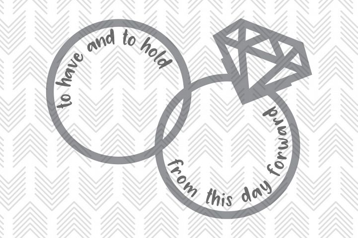 Wedding Vow Rings - SVG, AI, EPS, PDF, DXF & PNG FILES
