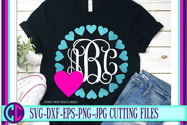 Valentine Heart Monogram svg
