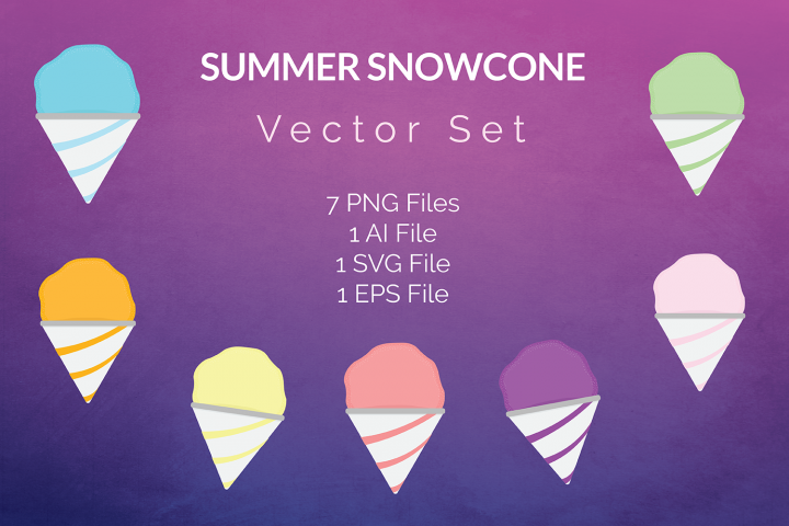 Summer Snowcone Vector Set