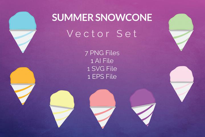 Summer Snowcone Vector Set