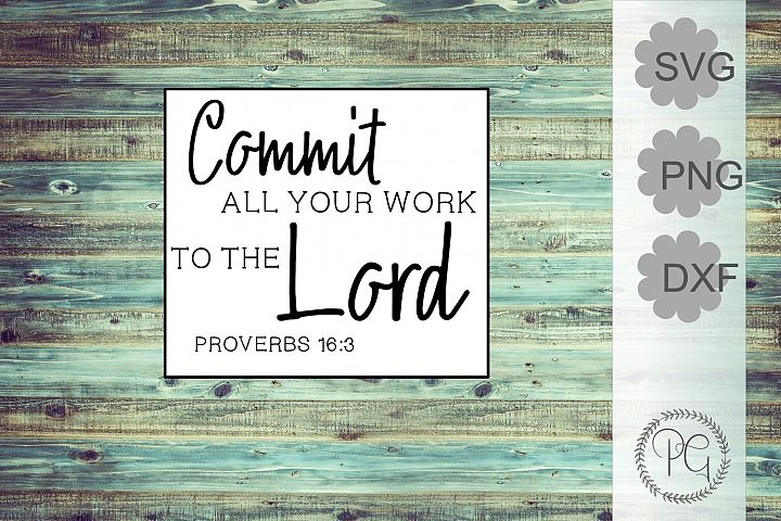 Proverbs 163 Bible Verses SVG PNG DXF