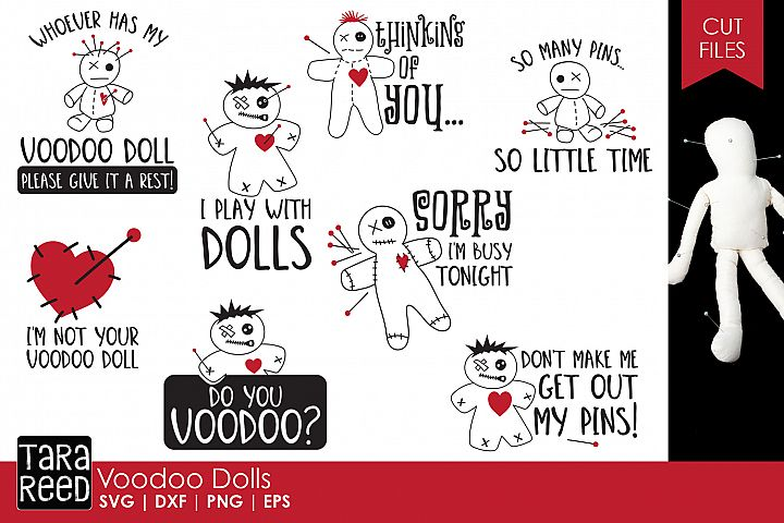Voodoo Doll SVG and Cut Files for Crafters