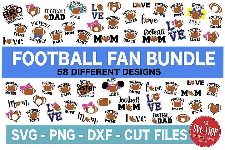 Football Fan Bundle -SVG, PNG, DXF