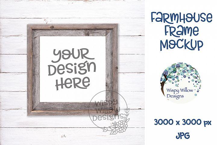 Square Farmhouse Photo Frame Mockup