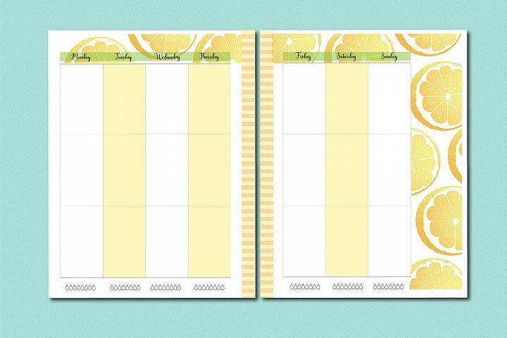 Lemon Planner Printable BUNDLE, A4, Letter and classic HP