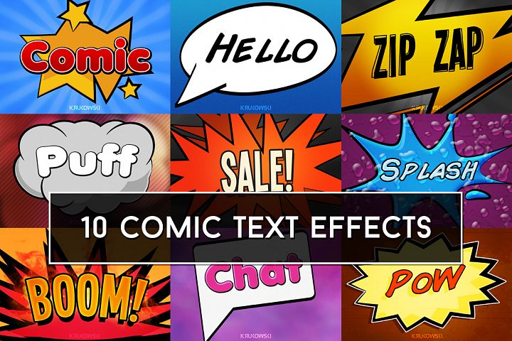 Comic Text Effects Mockup