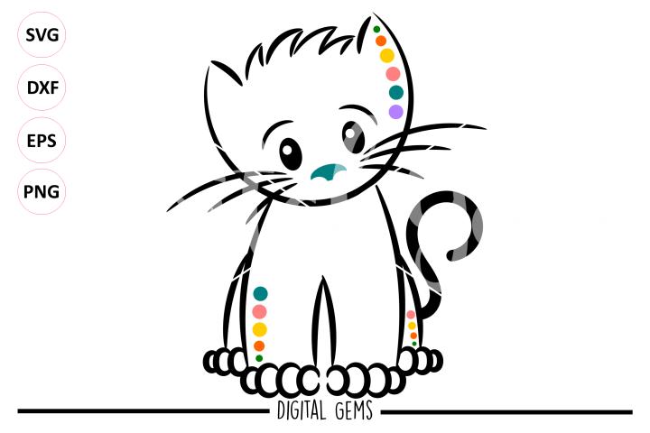Kitten, Cat SVG / EPS / DXF / PNG files