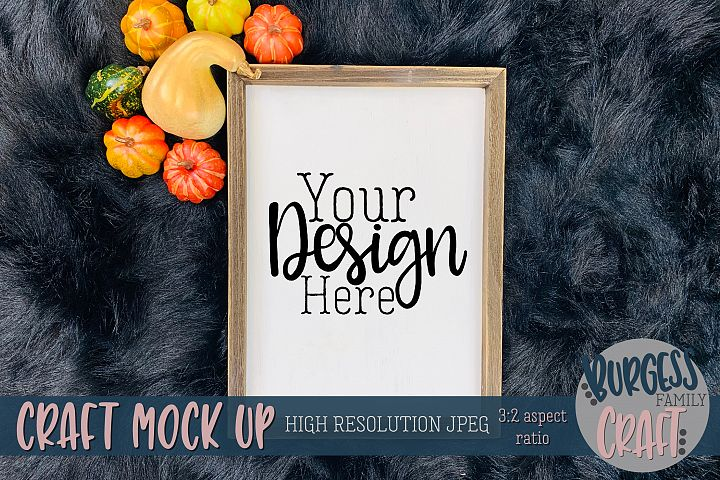 Vertical sign pumpkins Craft mock up |High Res JPEG