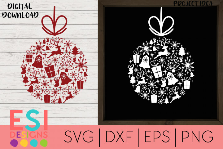Christmas SVG | Christmas Collage Bauble/Ornament| Wood Sign