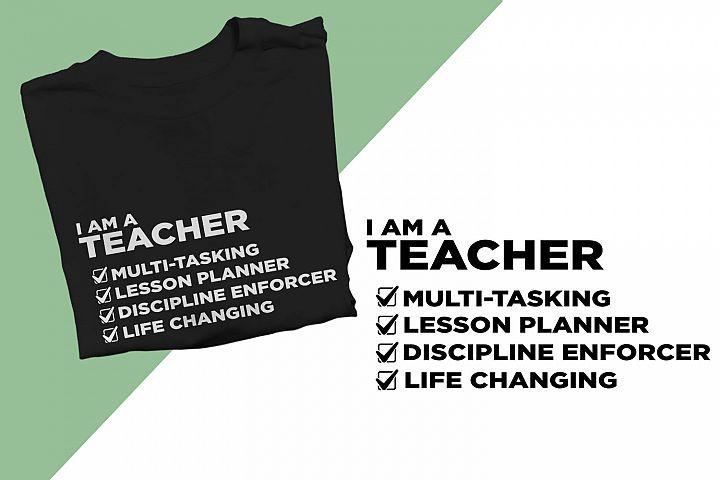 I am a Teacher Printable