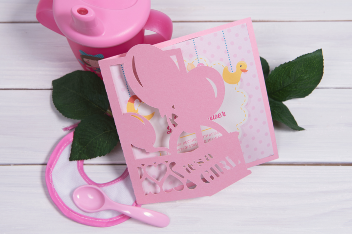 Baby Shower Invitation, Its a Girl cutting file