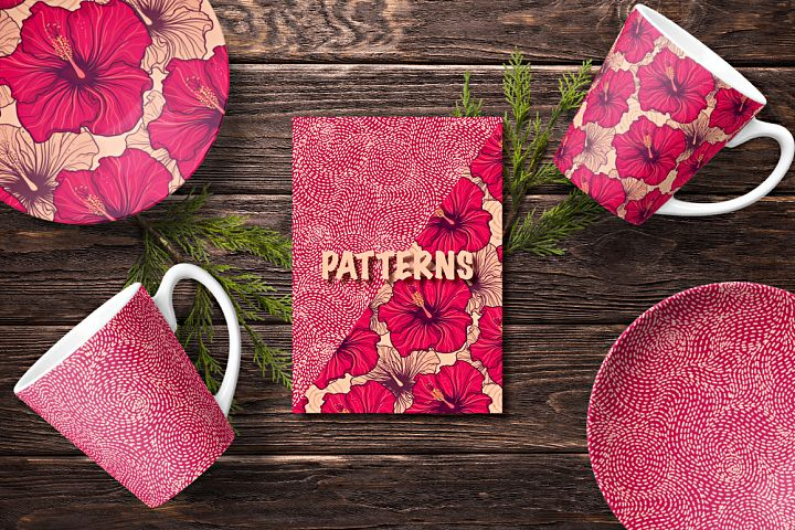 Floral and abstract patterns