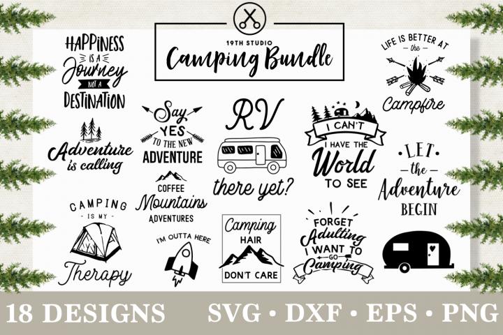 Camping SVG bundle - Adventure SVG - MB3