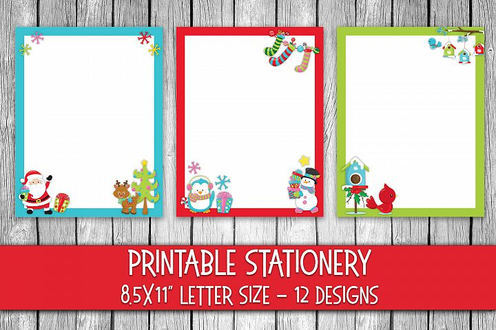 Christmas Stationery - Cute Christmas Digital Paper