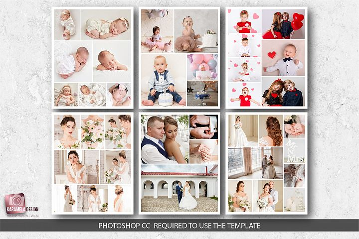 16x20 Photo Collage Templates
