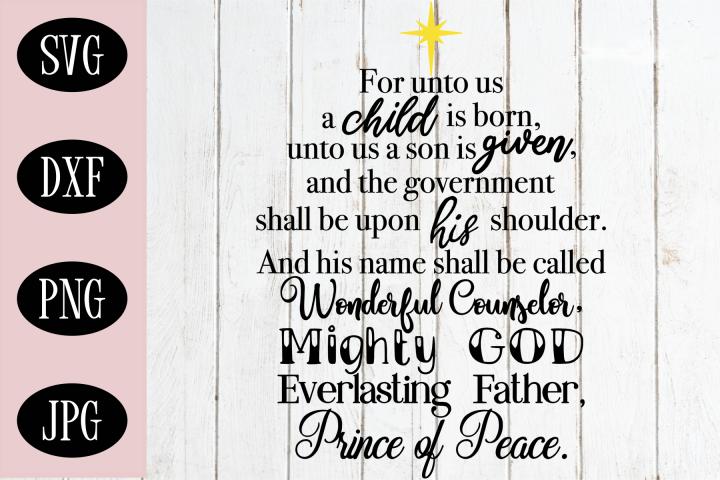 Bible Verse Christmas SVG | Christmas Cut File
