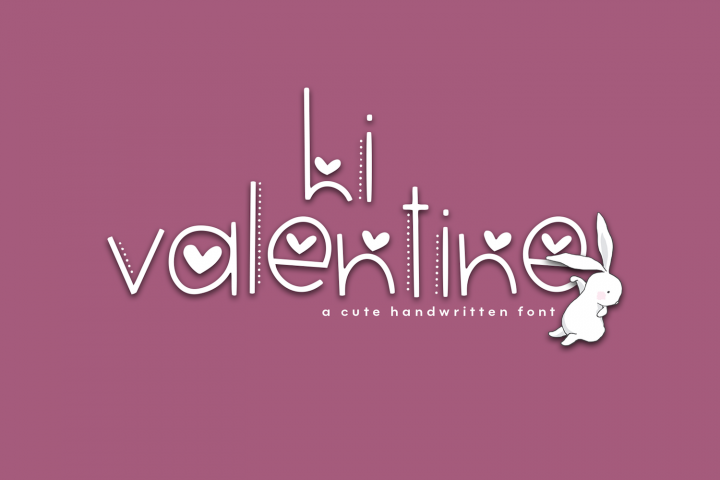 Hi Valentine - A Valentines Day Font