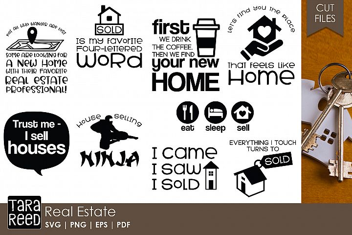 Real Estate SVG and Cut Files for Crafters