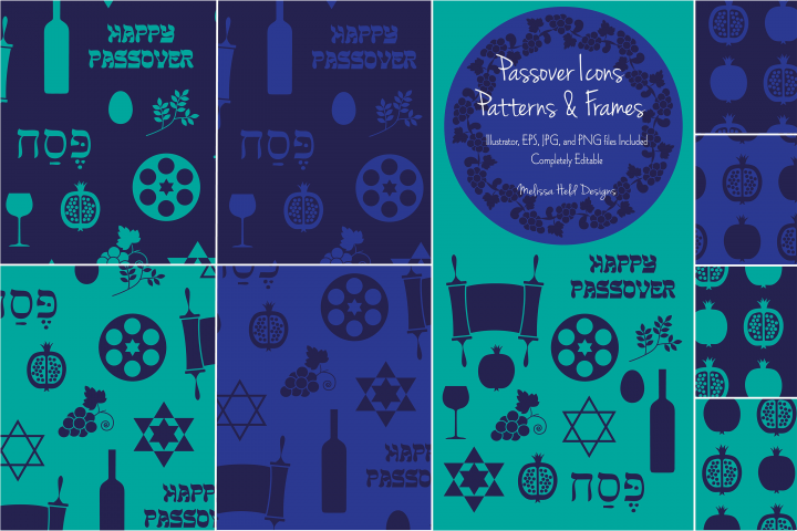 Passover Icons, Patterns, & Frames